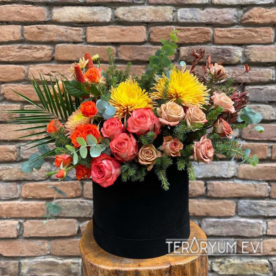 Kadife Kutu Çiçek Tasarım