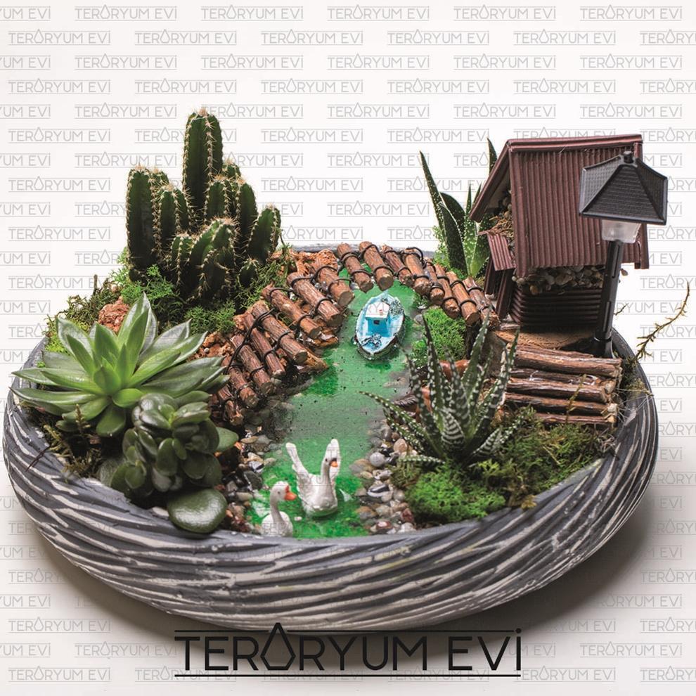 Su Efektli Minyatür Bahçe