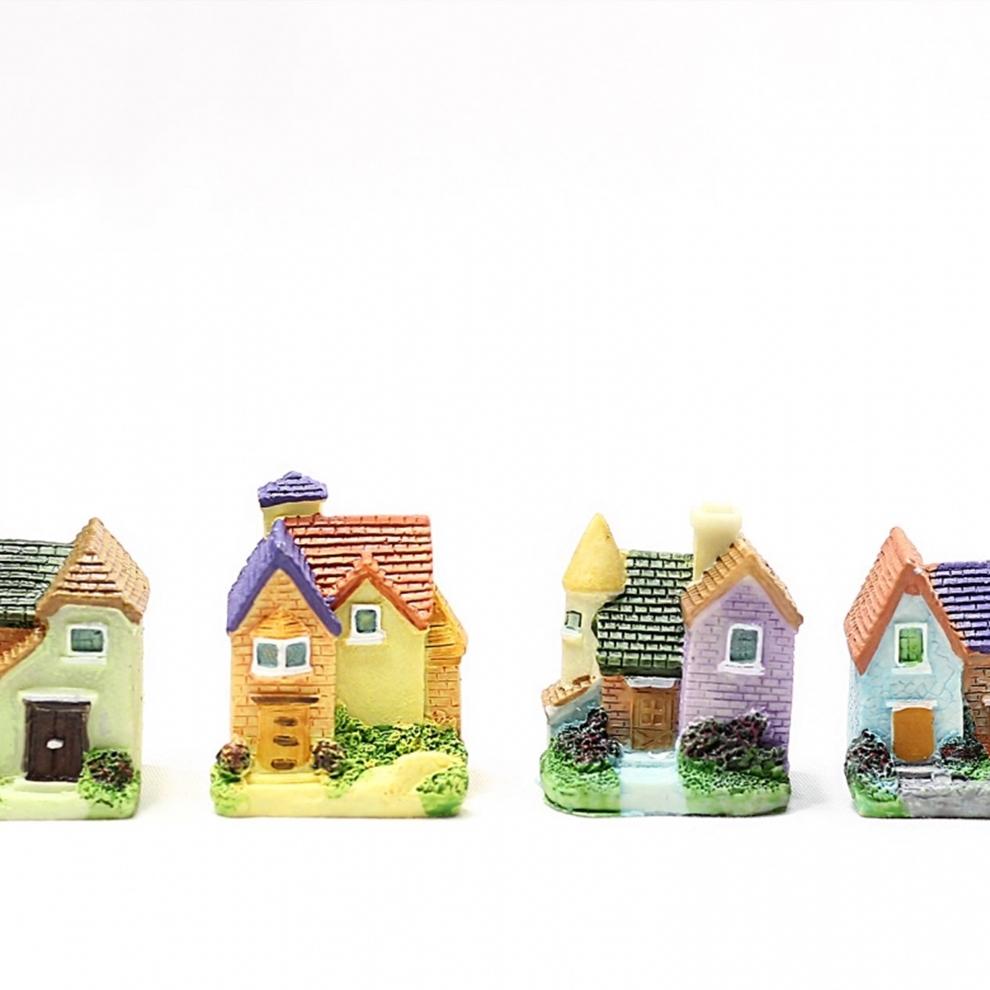 Minyatür Ev Figürü Şato